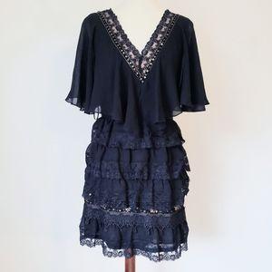 Free people layered chiffon lace dress 8